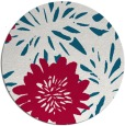 rug #1215855 | round red natural rug