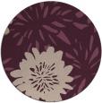 rug #1215907   round pink natural rug