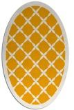 rug #121593 | oval light-orange rug