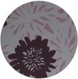rug #1215995 | round purple natural rug