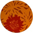 rug #1216003   round orange natural rug
