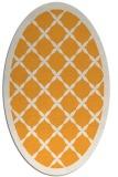 rug #121605 | oval light-orange traditional rug