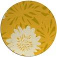 rug #1216059 | round yellow natural rug