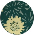rug #1216075 | round yellow natural rug