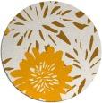 rug #1216095   round light-orange rug