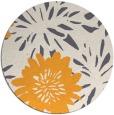 rug #1216103 | round light-orange natural rug