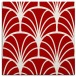 rug #1216735 | square red retro rug