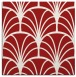 rug #1216743 | square red graphic rug