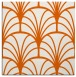 rug #1216763   square red-orange graphic rug