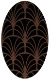 rug #1216859   oval brown retro rug