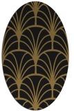 rug #1216871   oval brown retro rug