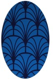 rug #1216875 | oval blue retro rug