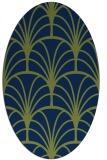 rug #1216887 | oval blue retro rug