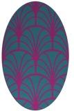 rug #1216923 | oval pink retro rug