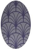 rug #1216931 | oval blue-violet rug