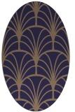 rug #1216947 | oval blue-violet rug