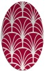 rug #1216959 | oval red retro rug