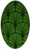 rug #1216987 | oval light-green rug