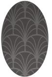 rug #1216999 | oval mid-brown retro rug