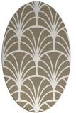 rug #1217007 | oval white retro rug