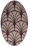 rug #1217011 | oval pink graphic rug