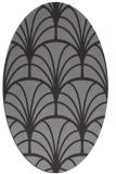 rug #1217041 | oval retro rug