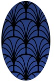 rug #1217047 | oval black retro rug