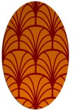 rug #1217055 | oval red-orange graphic rug