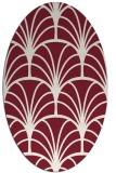 rug #1217075 | oval pink graphic rug