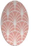 rug #1217083 | oval white retro rug