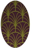 rug #1217091 | oval purple graphic rug