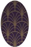 rug #1217095 | oval purple rug