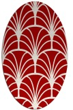 rug #1217103 | oval red retro rug