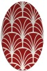 rug #1217111 | oval red retro rug