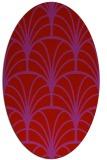 rug #1217115 | oval pink graphic rug