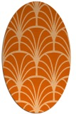 rug #1217123 | oval red-orange graphic rug