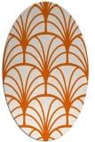 rug #1217131   oval red-orange popular rug