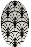rug #1217135 | oval white retro rug