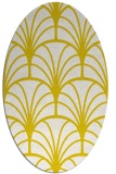 rug #1217139 | oval white retro rug