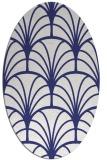 rug #1217143 | oval white retro rug