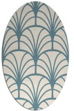 rug #1217155 | oval white graphic rug