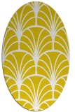 rug #1217171 | oval yellow graphic rug