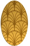rug #1217175 | oval yellow retro rug