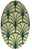 rug #1217179 | oval blue-green rug
