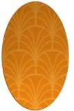 rug #1217203 | oval light-orange retro rug