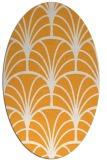 rug #1217207 | oval white retro rug