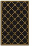 rug #121725    mid-brown borders rug