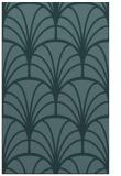rug #1217283 |  blue-green retro rug