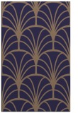 rug #1217315 |  blue-violet retro rug