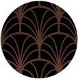 rug #1217595   round black graphic rug